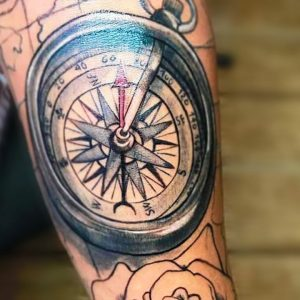 30 Compass Tattoos for Men That'll Help You To Find The Right Direction