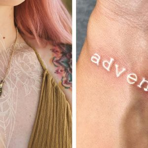 30 White Tattoo Designs And Ideas That Look Like Magic Runes
