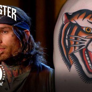 American Traditional Tiger Head Tattoo | Ink Master & Jack Daniel's
