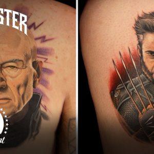 Best Tattoos of Ink Master (Season 4) | X-Men Tattoos ft. Hugh Jackman