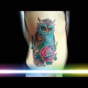 Colorful Owl Tattoo Designs