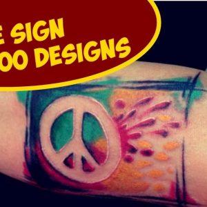 Cool Peace Sign Tattoo Designs Ideas
