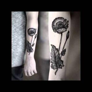 Delicate Botanical Tattoos