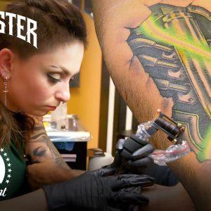 'Neon Lights' Elimination Tattoo Challenge Highlight 💡 Turf War (Season 13)