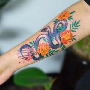 Incredible Snake Tattoos By Korean Tattoo Artist Zihee
