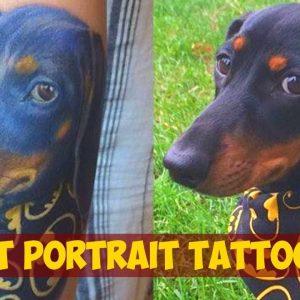 Lovely Pet Portrait Tattoos For Animal Lovers