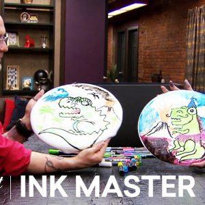 Draw on SLIME 🦖Ink Box Challenge: Sausage & Duffy Fortner | Ink Master