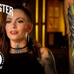 Neon Biomechanical Tattoo | Ink Master & Jack Daniel's