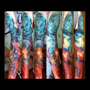 Outer Space Tattoo Designs