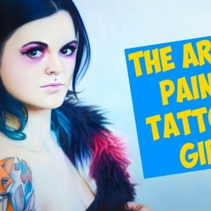 Paintings of Tattooed Girls Look Like Photographs and It's Awesome
