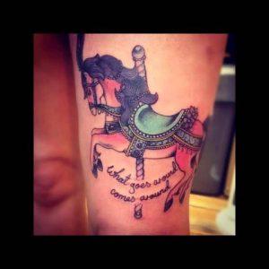 Pretty Merry Go Round Tattoos