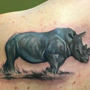 Rhino Tattoo Ideas As A Symbol Of Endurance, Agility, And Strength