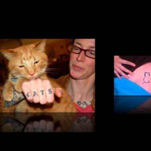 Simple Cat Tattoo Designs