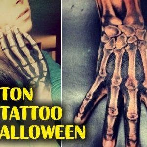 Skeleton Hand Tattoos for Halloween
