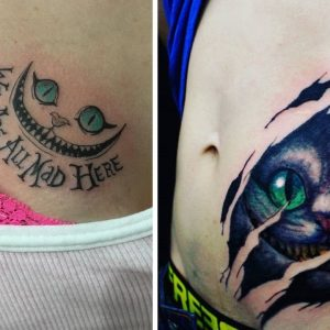 Staggering Cheshire Cat Tattoo Ideas