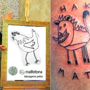 Tattoo Artist Makes Ugly Tattoos, But People Still Pay Her To Get Inked