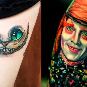 """The Most """"Madness"""" Alice In Wonderland Tattoos"""