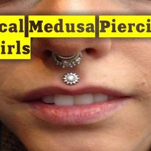 Vertical Medusa Piercing For Girls | TATTOO WORLD